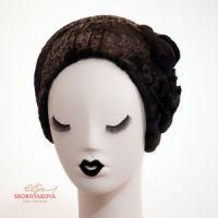 Женские головные уборы из меха каскетка