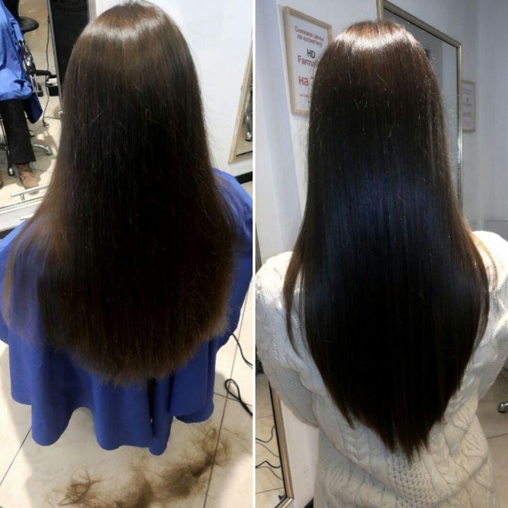 Стрижка. Длинные волосы.