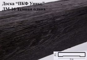 Доска из Полиуретана Уникс ДМ-16 Темная Олива Д2000хШ160хВ25 мм