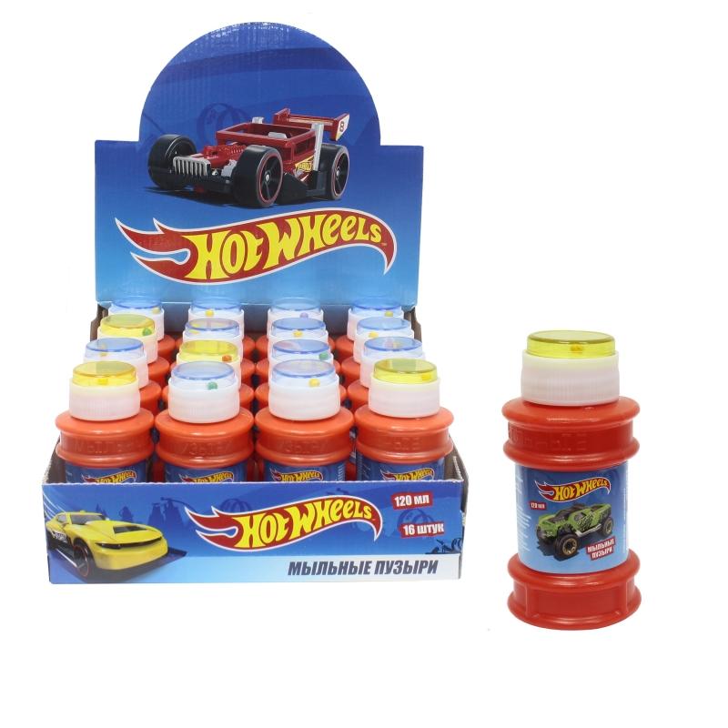 1toy Hot Wheels, мыльные пузыри, бутылка 120 мл