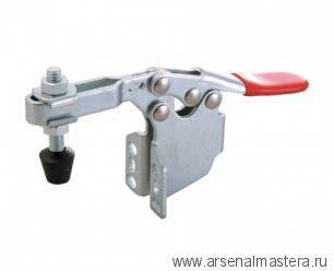 Зажим механический с горизонтальной ручкой усилие 90 кг, боковой монтаж 45плюс17мм GOOD HAND GH-201-BSM