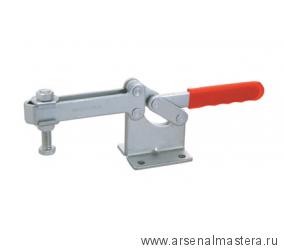 Зажим механический с горизонтальной ручкой, усилие 630 кг, прижим 127мм, база 71мм GOOD HAND GH-204-GBLH