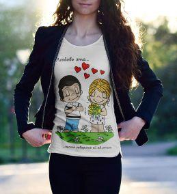 """Футболка Love is """"Любовь это - часто говорить ей об этом"""""""