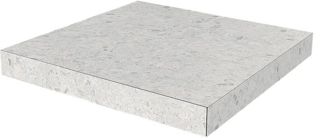 SG632400R/GCA | Ступень угловая клееная Терраццо серый светлый