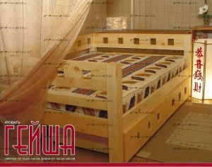 Кровать Гейша №В, любые размеры