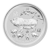1 доллар 2019 года Австралия. Год свиньи