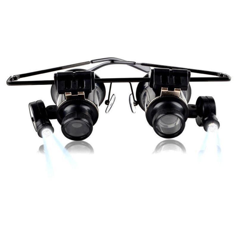 Очки-лупа ювелира и часовщика с подсветкой 20 крат