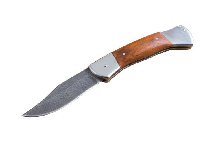 """Нож """"Бекас"""" складной дамаск"""