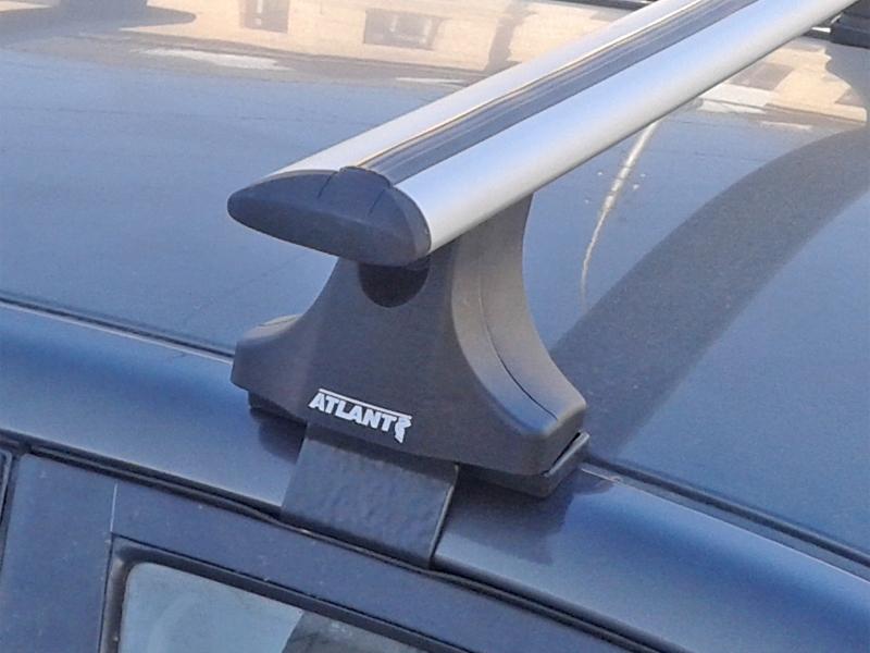 Багажник на крышу Ford Fiesta V (2002-2008), Атлант, крыловидные аэродуги
