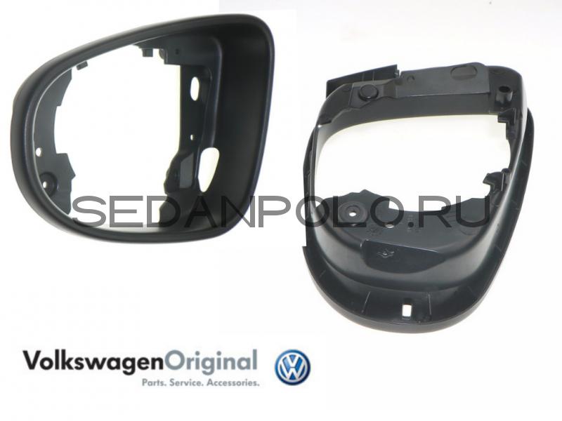 Рамка зеркала заднего вида левая VAG (с поворотником) Volkswagen Polo Sedan