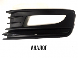 Окантовка ПТФ левая Черная Volkswagen Polo Sedan 2015