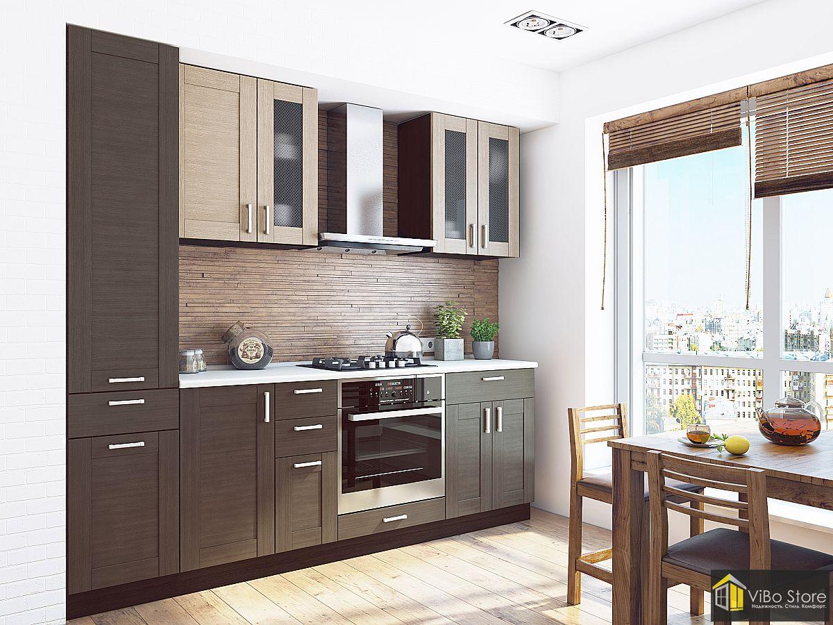 Коричневая гостиная кухня в стиле модерн