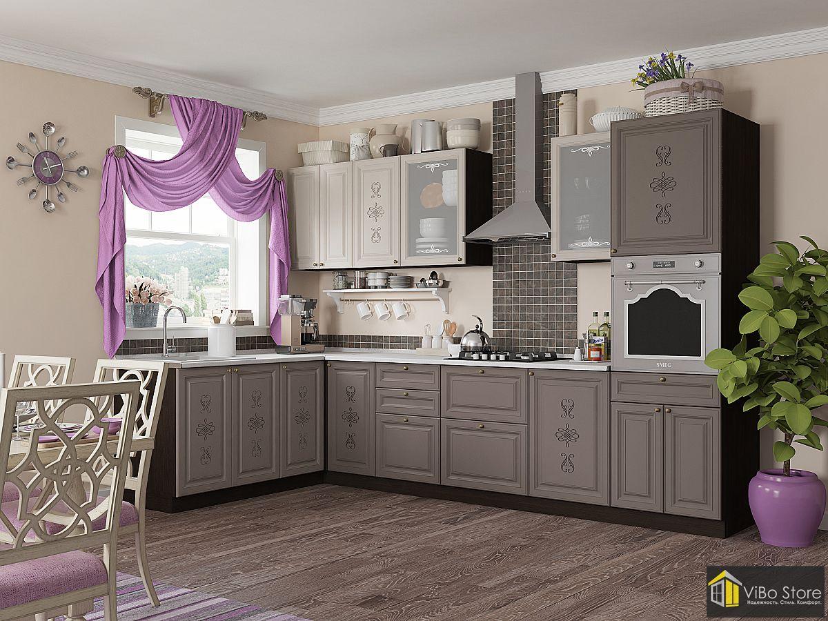 Угловая кухня классика 18 кв.м