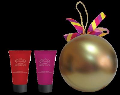 Liss Kroully Skin juice Парфюмерно-косметический подарочный набор NY-1808 Шар Крем для рук питательный 75 мл + Крем для рук увлажняющий 75 мл
