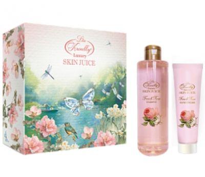 Liss Kroully Skin juice Парфюмерно-косметический подарочный набор NP-1703 French Rose Гель для душа 260 мл + Крем для рук 100 мл