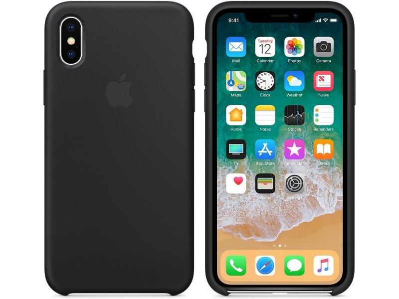 Cиликоновый чехол Apple для iPhone X/10 Black (черный)