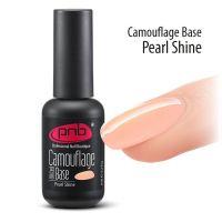 Камуфлирующая каучуковая для гель-лака PNB UV/LED Camouflage Base Pearl Shine, 8 мл