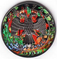 3 рубля 2010 год Георгий Победоносец. Палехская роспись