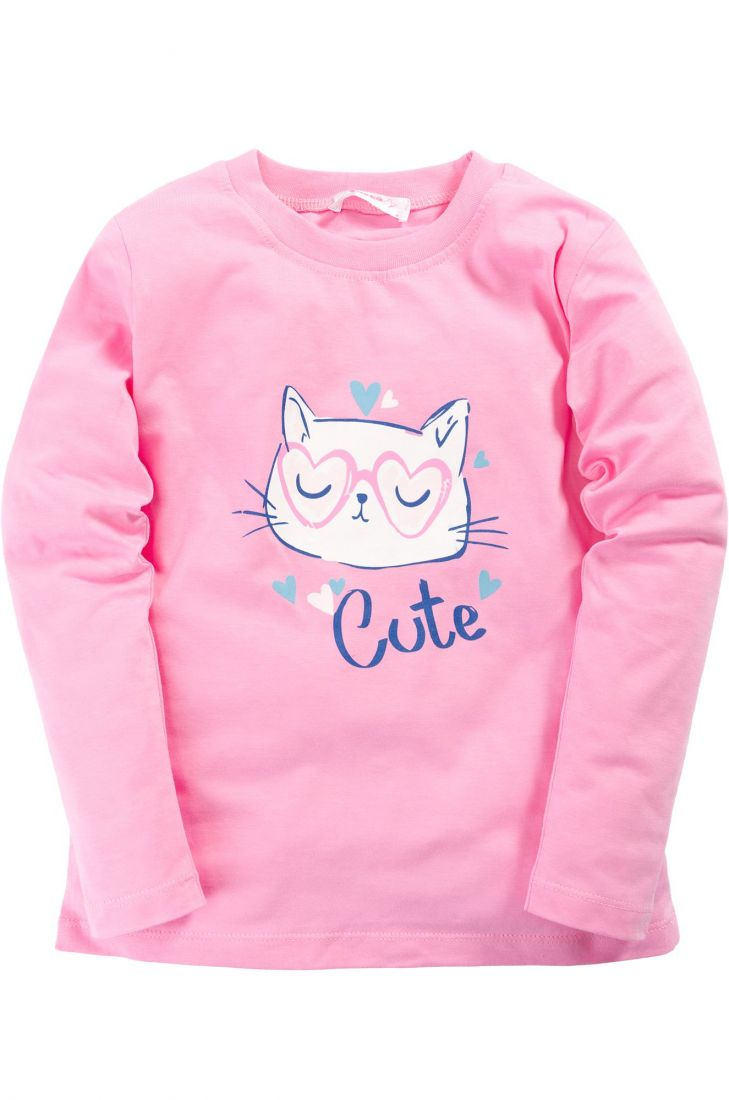 Розовый джемпер для девочки Cute