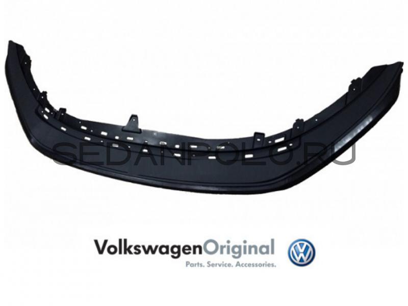 Спойлер переднего бампера VAG Volkswagen Polo Sedan Дорестайлинг