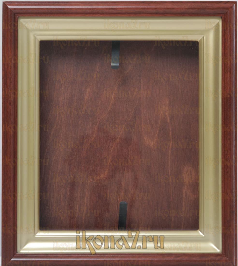 Киот для иконы (дуб) c имитацией золота по багету