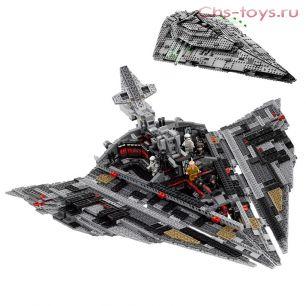 Конструктор Lari Звездные войны Звёздный разрушитель Первого Ордена 10901 (75190) 1457 дет