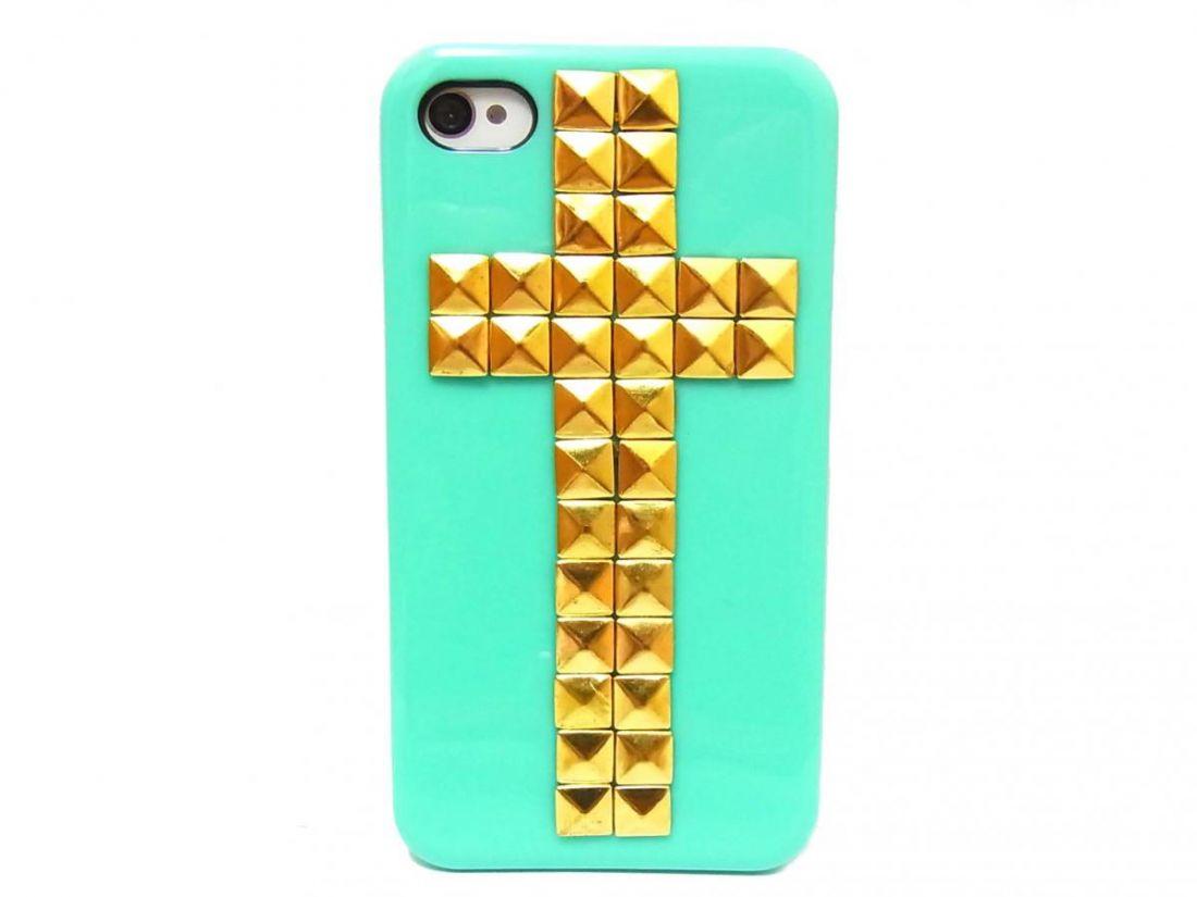 Чехол для iphone 5/5s/se с крестом (фисташковый)