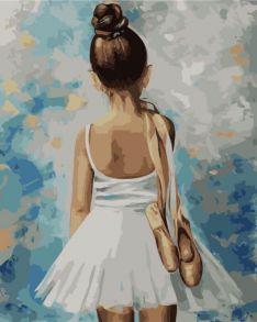 Картина по номерам «Маленькая балерина» 40x50 см