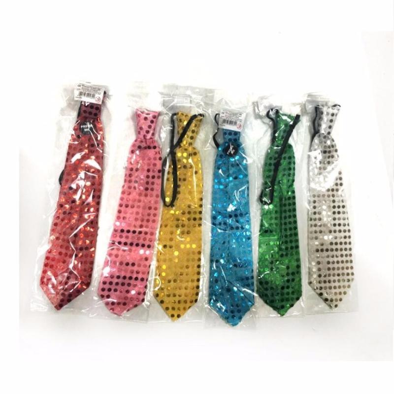 Светящийся карнавальный галстук (Цвет: Синий)