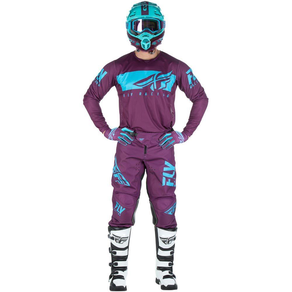 Fly - 2019 Kinetic Shield Port/Blue комплект джерси и штаны, фиолетово-синие