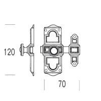 Шпингалет накладной Salice Paolo Sofia 4102. схема