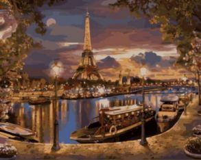 Картина по номерам «Париж. Вечер» 40x50 см