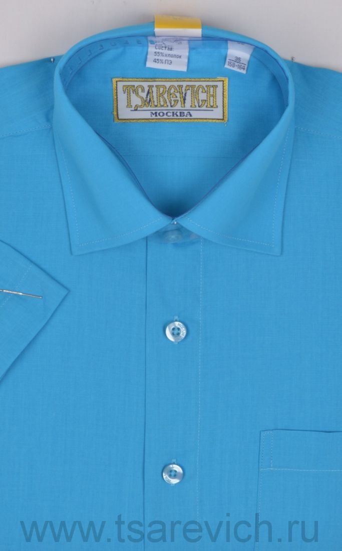 Сорочка детская Tsarevich (6-14 лет) выбор по размерам арт.Blue Aster-k  Короткий рукав