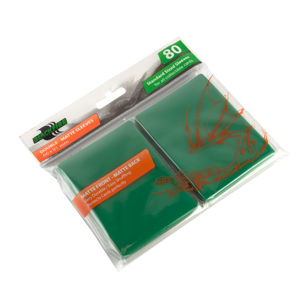 Blackfire Double-Matte для ККИ - Зелёные (80 шт.)