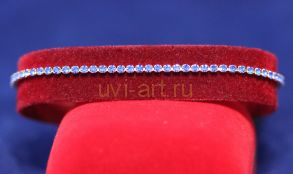 Позолоченный браслет с искусственными сапфирами (арт. 880150)