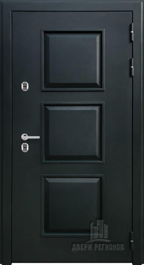 Дверь входная уличная Аляска, цвет милитари муар, панель - стандарт цвет венге