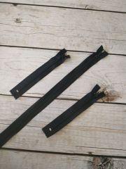 молния спираль длинная 90см черная
