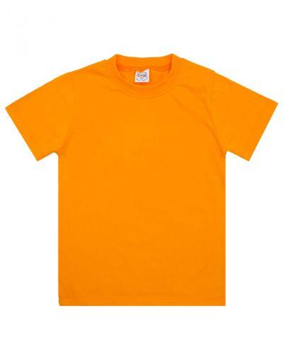 Однотонная Футболка для детей 4-8 лет Bonito BK165F оранжевая