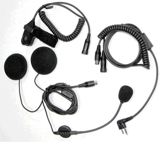 Гарнитура с выносным микрофоном на гибкой душке и громким динамиком под шлем