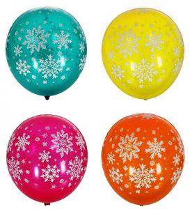 Набор разноцветных шаров Снежинки (25 шт)
