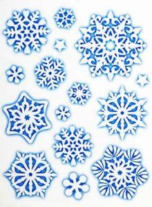 Набор наклеек на окно Снежинка (11 шт)