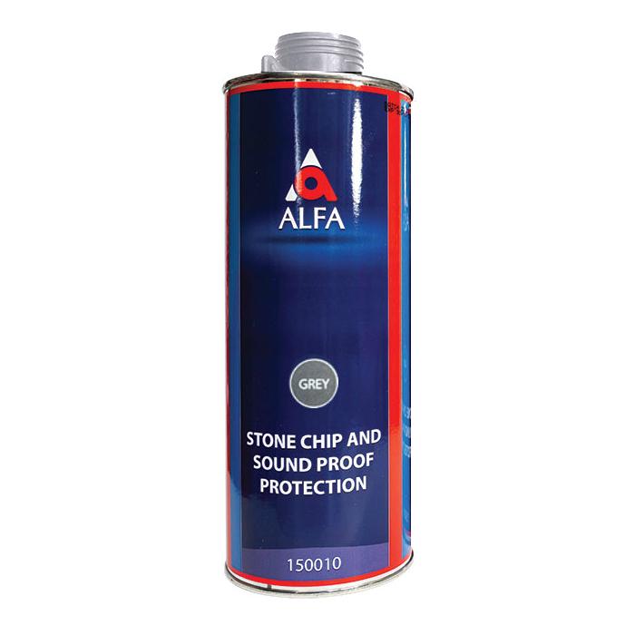 """Alfa Underbody Stone Protection Антигравийное покрытие, название цвета """"Серый"""", объем 1л."""