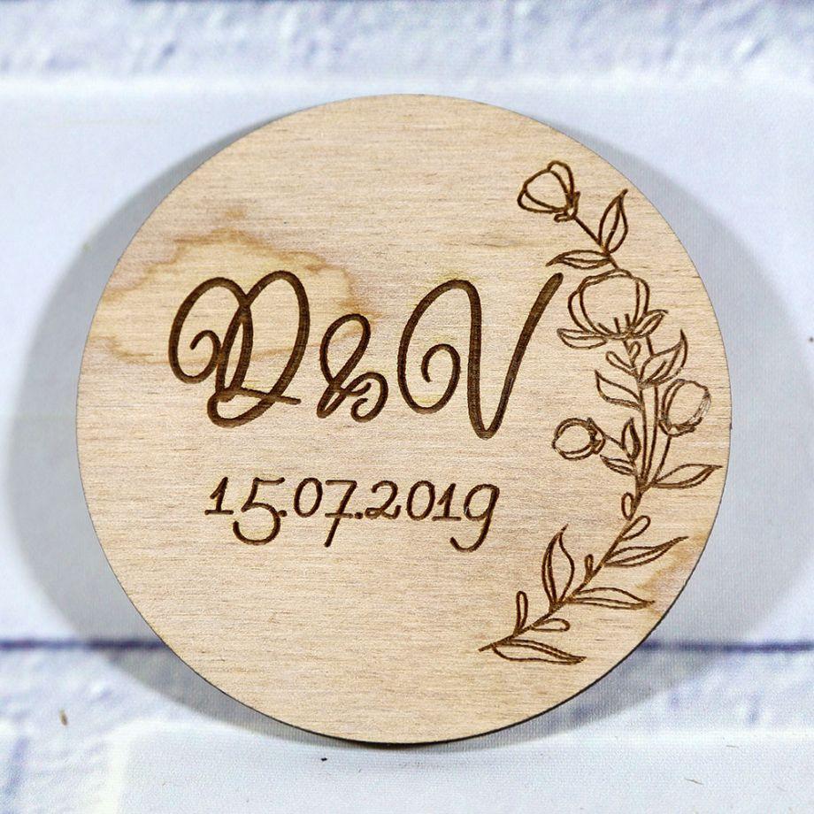 Свадебное приглашение круг с ветвью