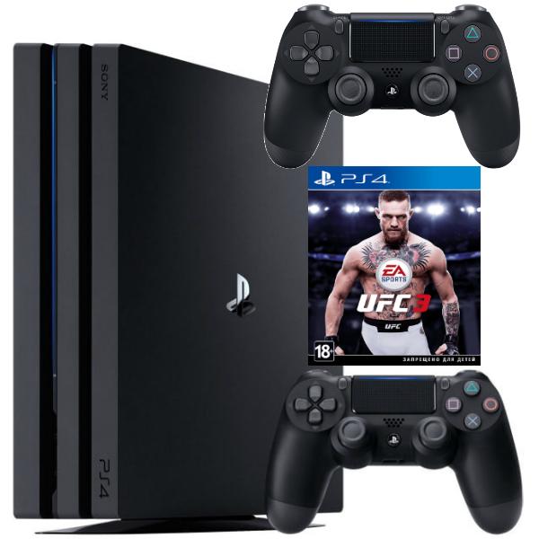 Игровая консоль  Sony Playstation 4 Pro 1TB (CUH-7108B) + UFC3 + Геймпад