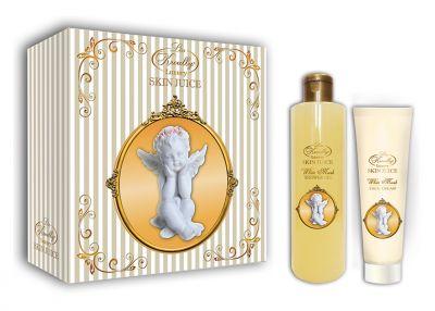 Liss Kroully Skin juice Парфюмерно-косметический подарочный набор AN-1702 White Musk Гель для душа 260 мл + Крем для лица 100 мл