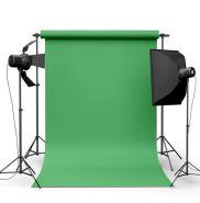 Фотофон виниловый Светло-зеленый ширина 1.5м