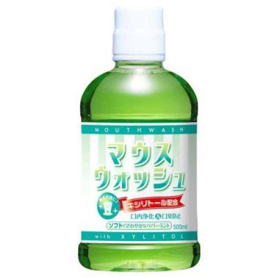 Nissan FaFa Mouthwash peppermint Средство для полоскания рта со вкусом перечной мяты 500 мл. 1/12