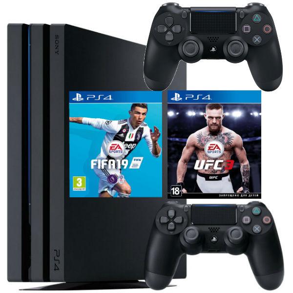Игровая консоль  Sony Playstation 4 Pro 1TB (CUH-7108B) + UFC3 + FIFA 19 + Геймпад