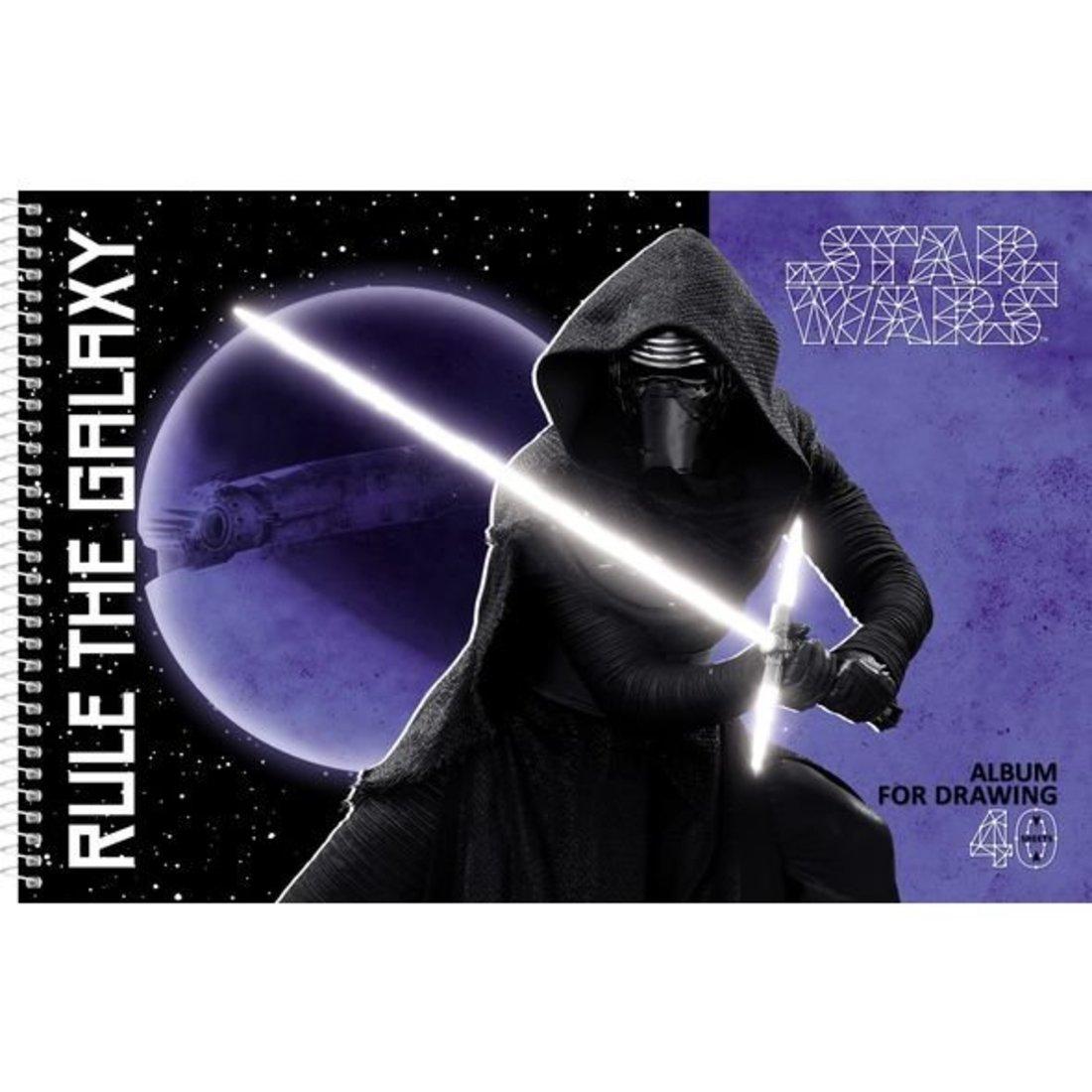 Альбом для рисования 40л А4ф на спирали Звёздные войны, в ассорт.