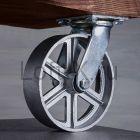 Чугунное колесо 200мм (поворотное) для мебели LOFT